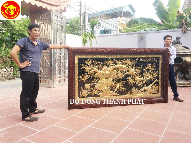 Tìm hiểu từ A- Z tranh vinh hoa phú quý mạ vàng cao cấp (1)
