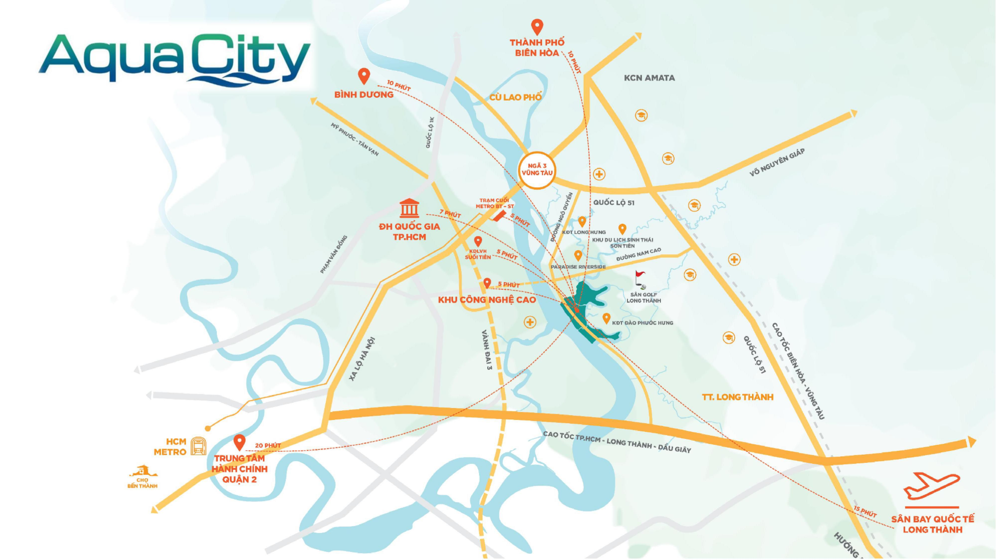 Vị trí tọa lạc chiến lược của khu đô thị sinh thái Aqua City (2)